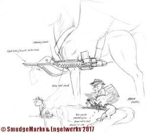 Rough design for battlesaddle