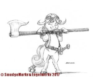 Sweetie Belle the barbarian